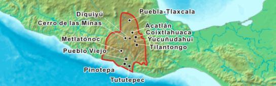 area geografia de desarollo de la cultura mixteca