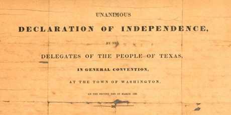 declaracion de la independencia de texas