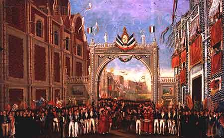 entrada del ejercito Trigarante a la ciudad de Mexico